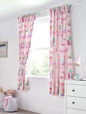 Magic Unicorn Fairy Princess Children Girls Kids Bedroom Pair Tieback Curtains