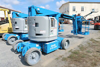Genie Z34/22N Manlift, 34' Articulating Boom Lift, Electric, JLG E450, Aerial