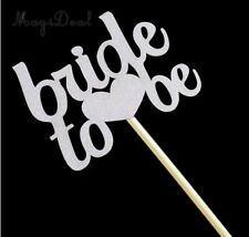 Bride To Be Engagement Wedding Hen Night Cake Topper Silver Gorgeous Shimmer