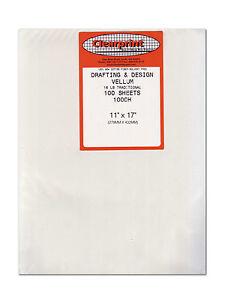 Clearprint Vellum 1000H 11X17 Pk/100 Sheets