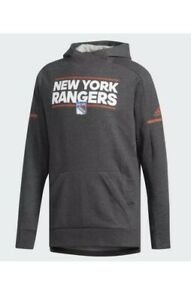 New York Rangers Adidas Authentic NHL Hoody Squad Pullover Men Size S $100 NWT