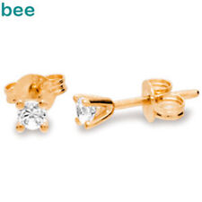Classic 1Ct Clawset 9Ct Rose Gold Diamond 0.10 Carat Dia.Studs Earrings