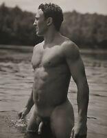 1990 Vintage BRUCE WEBER Outdoor Nude Male JOHN Adirondack Park Lake Photo Art