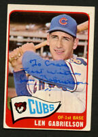 Len Gabrielson #14 signed autograph auto 1965 Topps Baseball Trading Card