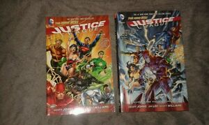 Justice league  volumes 1 and 2 journey dc graphic novels
