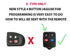 JAGUAR X  TYPE 4 BUTTON KEY FOB REMOTE EURO SPEC WITH PROGRAMMING INFO