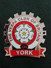 More details for vespa club of britain metal cog . york vcb branch - cog 134 (last few remaining)