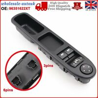 Front Driver Side Electric Window Control Switch  For Peugeot 307 2000-2008