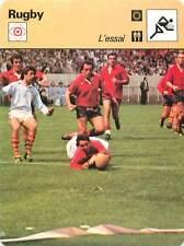 FICHE CARD: Béziers-Perpignan Finale Parc 1977 Points Essai RUGBY à XV 1970s