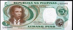 PHILIPPINES ;  5 Piso , billet NEUF ;  1978 , Pick#160b / L 10