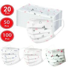 10/20/50/100PCS Print Face Mask Mouth Cover Outdoor Anti Haze Protective Mask