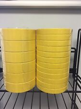 """12 Rolls of 3M 06652 3/4"""" Yellow Tape & 6 of 06654 1 1/2"""" Tape Sleeve of Each"""