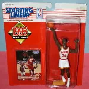 1995 HAKEEM OLAJUWON #34 Houston Rockets NM *FREE_s/h* Starting Lineup HOF