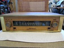 SHERWOOD BRAND. VINTAGE TUBE AM/FM TUNER. MODEL S-2000. LEATHER. NON- WORKING.