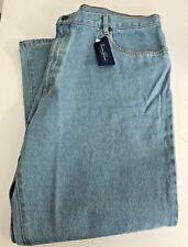 Union Blues Mens Plus Size Blue Jeans Size 46R x 30L Casual 100% Cotton New