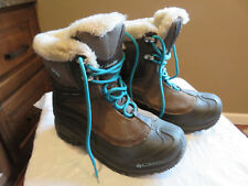 Columbia Omni-Heat Brown Boots with Teal Accents Size Youth 4