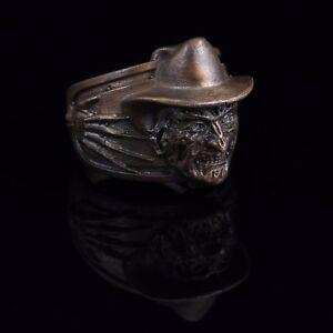 Freddy Krueger Horror Ring, bronze, handmade ... nightmare on elm street