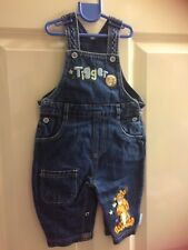 Disney,new born,blue,cotton denim dungarees/trousers,embroidered tiger,poppers