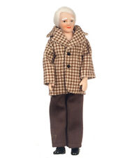Dollhouse Porcelain Modern Grandpa Doll by Town Square Miniatures