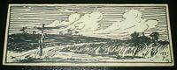 EUGENE WIELAND, LANDSCAPE 1, 1905, PEN AND INK, ART, ALEISTER CROWLEY ASSOCIATE
