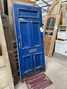 SALVAGED Victorian ANTIQUE PERIOD FRONT ENTRANCE DOOR - 5 Panel, Heavy Mouldings