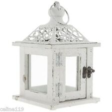 Pretty White Lantern with Punch Top.Shabby Chic Charming Home Accent New!!