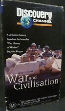 PAL VHS VIDEO TAPE: WAR AND CIVILISATION :  BOXED SET, 3 VIDEOS