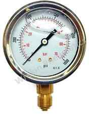 Pressure Gauge 50mm 63mm 100mm Dial Bottom & Back Connection Hydraulic Oil Range