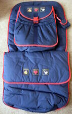 Bruin Pram Footmuff & Changing Bag Set In Blue New In Clear Case