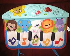 Fisher Price Precious Planet Kick & Play Piano '09 Music Lights Crib Toy 2 Modes
