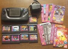 Huge Sega Game Gear Lot Tons of Games Manuals Plug Fully Functional Very Nice