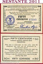 PHILIPPINES FILIPPINE - 50 CENTAVOS MINDANAO 1944 SERIE F  - P S514a - QSPL/AXF