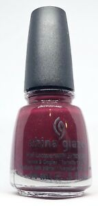 China Glaze Nail Polish Merry Berry 1109 Creme Muted Berry Red Lacquer Hardeners