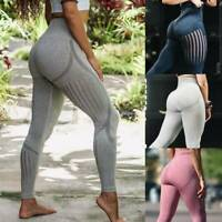 Women Seamless Yoga Pants High Waist Push Up Fitness Leggings Sports Gym Running