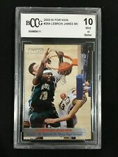 LEBRON JAMES ROOKIE BCCG 10 MINT HIGH SCHOOL SPORTS ILLUSTRATED BASKETBALL CARD
