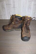 """Keen Wenatchee 8"""" Steel Toe Waterproof Work Boot - Men's Size 10 - Brown *Repair"""