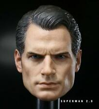 Custom 1/6 Scale Henry Cavill Batman v Superman 2 Head Sculpt For Hot Toys Body