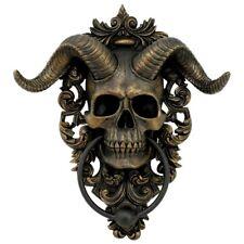 More details for nemesis now - horned skull gothic baroque door knocker - diabolus devil