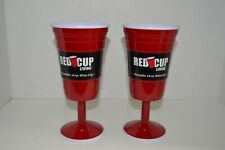 Red Cup Living Reusable 14oz. Wine Cups Set of 2