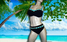 NWT GOTTEX PROFILE Tricolore 38D BIKINI 2 pc BATHING SUIT SWIMSUIT Set - 16