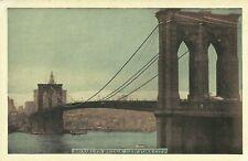 Brooklyn Bridge Lumitone 1930 New York City Postcard