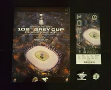 2014 CFL GREY CUP LOT PROGRAM TICKET PINS HAMILTON TIGER CATS CALGARY STAMPEDERS