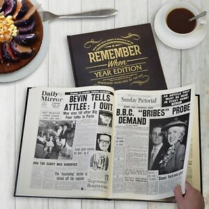 Personalised Full Newspaper Reproduction Book bound - Year Edition Birthday Gift