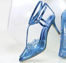 NEW WOMENS ASHRO ELECTRIC BLUE LUCITE HEELS SHOES SIZE 12M 12 M