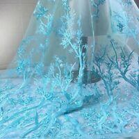 3D Bäume Stickereien Spitze Pailletten Stoff Tüll Braut Hochzeit Kleid Tuch Von
