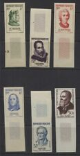 France 1958 - 1959 Portraits 6 Different Values MNH Imperf Margin Singles