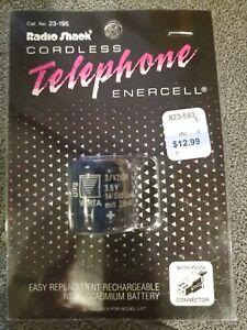 Vintage Radio Shack 23-195 Cordless Telephone Battery 3.6v 280 MAH new in pack