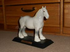 Samuel Smith beer collectible Beswick glossy dapple shire horse on stand VINTAGE