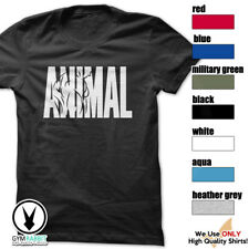 ANIMAL Gym Rabbit T-Shirt Workout Gym BodyBuilding Fitness Motivation Tee D574