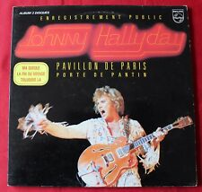 Johnny Hallyday, live Pavillon de Paris  1979,  2LP - 33 Tours - verso noir